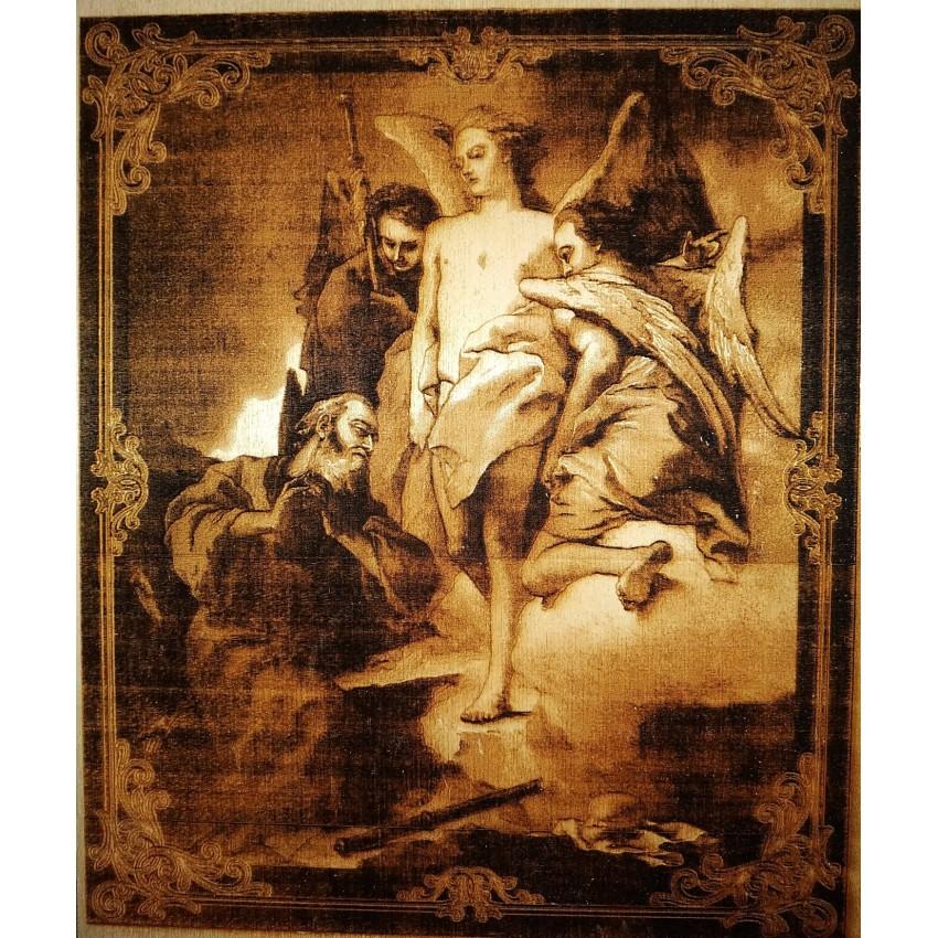 """Картина """"Авраам и Ангелы"""" лазерная гравировка"""