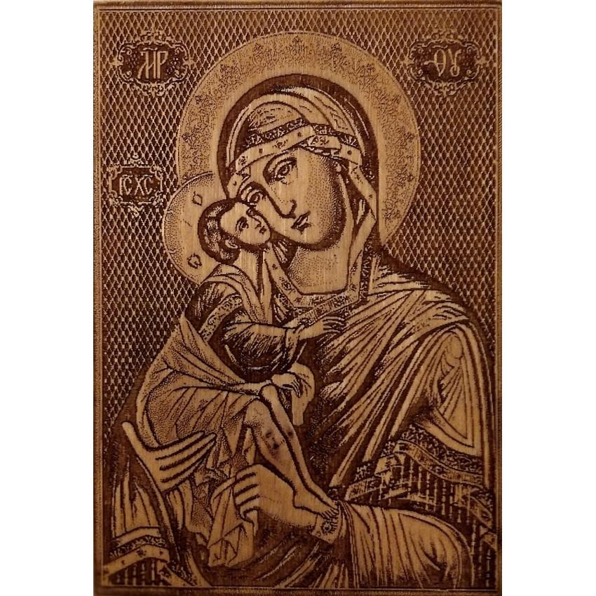 """Картина """"Пресвятая Богородица"""" лазерная гравировка"""